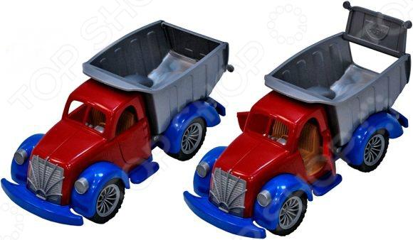 Грузовик игрушечный Русский стиль «Ретро» 08862Машинки<br>Грузовик игрушечный Ретро 08862 представляет собой реалистичную копию настоящего спец.транспорта. Модель выпущена известной компанией по производству игрушек Русский стиль. Служебный автомобиль изготовлен из пластика и обладает отличной детализацией. У него вращаются колеса, поднимается кузов и опускается задний борт. Игра на детской площадке или в песочнице с такой машинкой надолго займет малыша и не даст ему заскучать. Яркий ретро-грузовичок разнообразит игровые ситуации, откроет новые сюжеты для маленького автолюбителя и поможет развить мелкую моторику рук, внимание, воображение и координацию движений. Не упустите шанс порадовать ребенка замечательным подарком!<br>