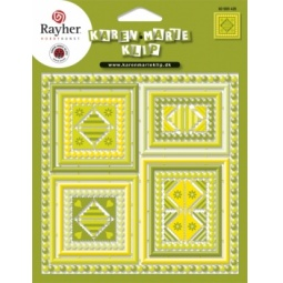 фото Набор бумажных аппликаций Rayher «Рамки» 80989426