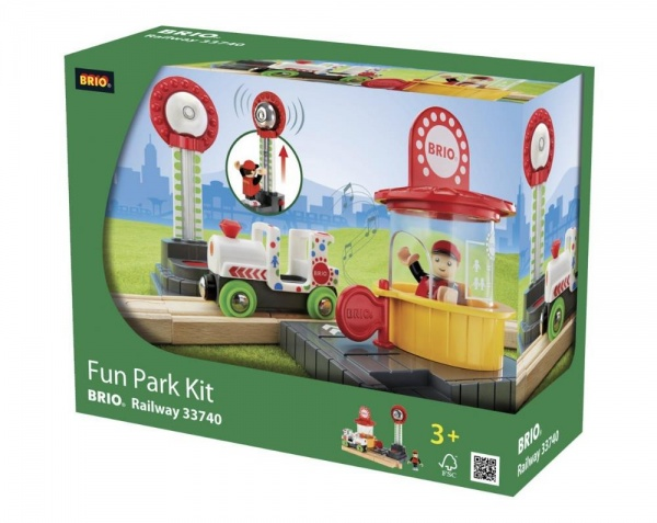 Набор игровой со светозвуковыми эффектами Brio «Парк развлечений» 33740 brio brio игровой набор парк развлечений 7 элементов
