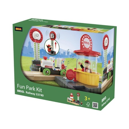 Купить Набор игровой со светозвуковыми эффектами Brio «Парк развлечений» 33740