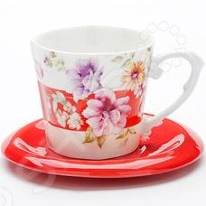 Чайная пара Loraine LR-24712 «Цветы»Чайные и кофейные пары<br>Чайная пара Loraine LR-24712 Цветы станет украшением вашего стола. Красивое оформление стола как праздничного, так и повседневного это целое искусство. Правильно подобранная посуда это залог успеха в этом деле. Такая оригинальная чайная пара придется по вкусу даже самым требовательным хозяйкам и придаст особый шарм и очарование сервируемому столу. Превратите ваше традиционное чаепитие в настоящее удовольствие! В набор входят чашка и блюдце.<br>