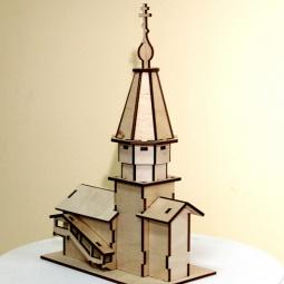 фото Сборная модель из фанеры RTO «Храм Успения прс.Богородицы в с. Кондопога»