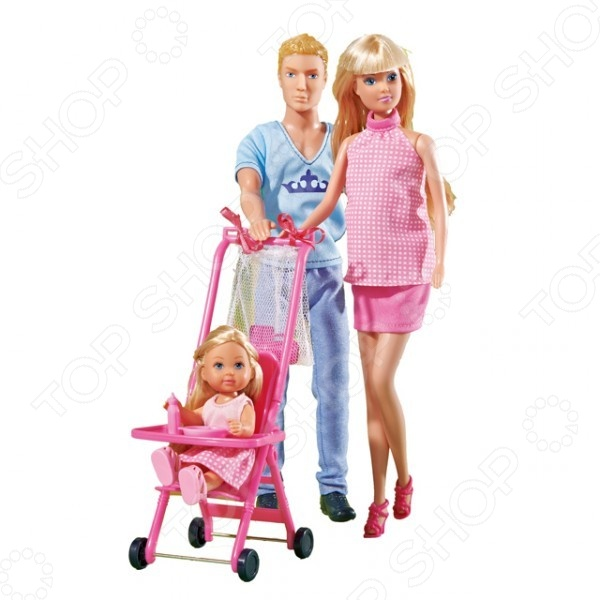 Семья куклы Штеффи Simba 5733200 goki куклы семья медведей goki
