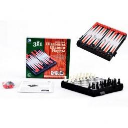 Купить Игра настольная 3 в 1 Shantou Gepai «Шахматы, шашки, нарды»