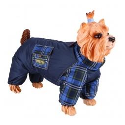 Купить Комбинезон-дождевик для собак DEZZIE «Йоркширский терьер» №1. Цвет: синий