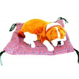 фото Мягкая игрушка интерактивная Zzz «Дышащий Бульдог на коврике»