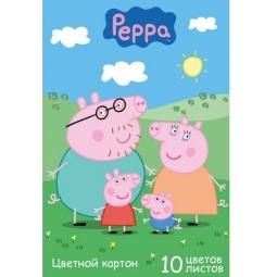 фото Набор картона цветного Росмэн «Свинка Пеппа» 25500