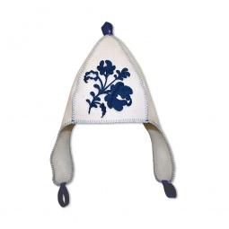 фото Шапка банная с ушками EVA «Гжель. Цветок»