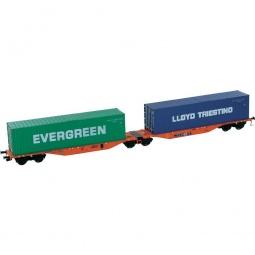 фото Вагон для перевозки грузов Mehano SGGMRSS 90' WASCOSA Evergreen, Lloyd