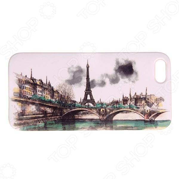 Чехол для iPhone 5 Mitya Veselkov «Париж в тумане» стоимость