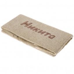 фото Полотенце подарочное с вышивкой TAC Никита. Цвет: бежевый