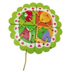 фото Игра развивающая для малыша Mapacha «Шнуровка. Фрукты»
