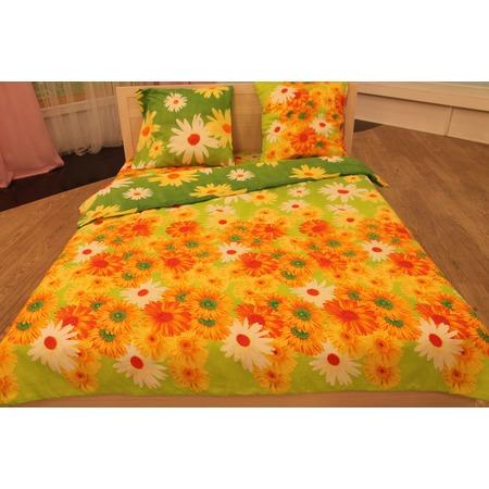 Купить Комплект постельного белья «Сказочный рай». 2-спальный. Рисунок: герберы