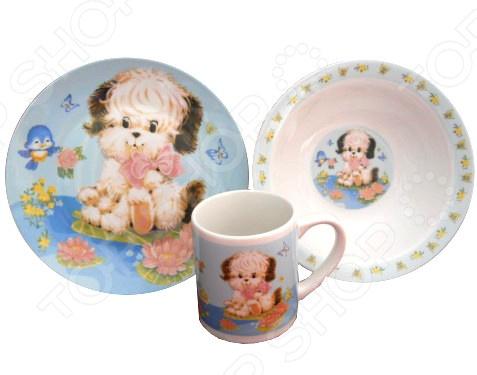 VC 1207 «Собачки» Набор детской посуды Viconte VC-1207 «Собачки»