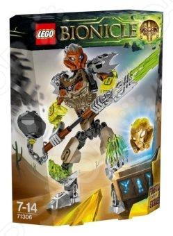 Фигурка сборная LEGO «Похату: Объединитель камня»Конструкторы LEGO<br>Фигурка сборная Lego Похату: Объединитель камня прекрасный комплект для развлечения и приятного времяпрепровождения. Набор состоит из деталей, с помощью которых можно собрать фигурку фантастического персонажа. Конечности фигурки, что позволяет придать ей боевую стойку. Особенности:  Куча разных элементов и возможностей.  Увлекательный процесс сборки.  Качественный материал.<br>