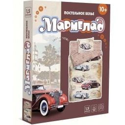 фото Комплект постельного белья Мармелад «Большие гонки». 1,5-спальный