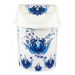 Купить Контейнер для мусора Violet 0404/78 «Гжель»