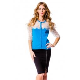 фото Жакет Mondigo 10033. Цвет: синий. Размер одежды: 44