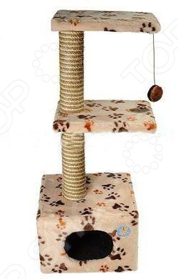 Домик-когтеточка ЗООНИК с 2-мя площадками