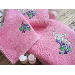 фото Комплект полотенец подарочный TAC Bahar. Цвет: розовый