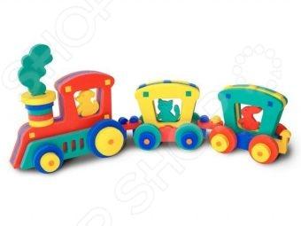 Конструктор мягкий Флексика Поезд - оригинальный детский конструктор, который обязательно понравится вашему ребенку. Он настолько практичен и универсален, что с ним можно играть где и когда захочется. Нужно лишь разложить мягкие и приятные на ощупь детальки и собрать оригинальный поезд. Для производства этого необычного конструктора используется современный, легкий, эластичный и прочный материал, который гарантирует долговечность и надежность деталей. С конструктором можно играть даже в ванной, детальки будут прилипать к мокрой поверхности. Конструктор мягкий Флексика Поезд способствует развитию у ребенка мелкой моторики рук, логического и образного мышления, наблюдательности и усидчивости.