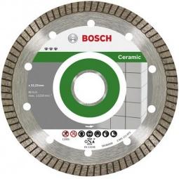 Купить Диск отрезной алмазный для угловых шлифмашин Bosch Best for Ceramic Extra-Clean Turbo 2608602479