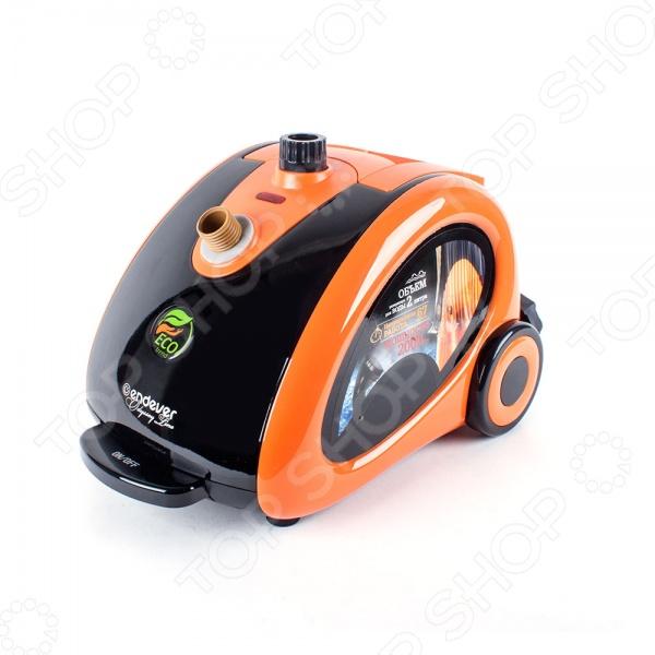 Отпариватель Endever Odyssey Q-506Отпариватели<br>Отпариватель Endever Odyssey Q-506 поможет вам быстро и без особых усилий привести одежду в надлежащий и презентабельный вид. В отличие от обычного утюга, отпариватель более деликатен к тканям; не оставляет на одежде заломов, подпалин и лоснящихся пятен. Особенно удобен прибор для отпаривания платьев, пиджаков и штор. Также его можно использовать для дезинфекции мебели, подушек, матрацев и мягких игрушек. Отпариватель Endever Odyssey Q-506 обеспечивает непрерывную мощную подачу пара 30 г мин ; снабжен съемным резервуаром для воды, цифровой регулировкой подачи пара, защитой от протекания и перегрева, а также колесиками для удобства перемещения. Педаль включения выключения располагается на корпусе прибора.<br>