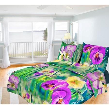 Купить Комплект постельного белья Олеся «Фиалки». Семейный