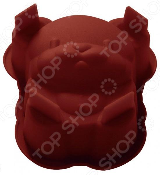 Форма для выпечки Regent Silicone «Мышонок»Силиконовые формы для выпечки и запекания<br>Форма для выпечки Regent Silicone Мышонок станет прекрасным дополнением к вашим кухонным аксессуарам. Благодаря ей, можно быстро и легко приготовить сладкий кекс, пирог или торт, который никого не оставит равнодушным. Материалом изготовления данной формы является силикон. Посуда или кухонная утварь из силикона выгодно отличается от подобных ей аналогов из нержавеющей стали и обладает целым рядом уникальных свойств. Во-первых, она выдерживает температурные перепады. Во-вторых, приготовленное блюдо не будет прилипать, что позволит вытащить кекс или пирог из формы абсолютно целым. В-третьих, силикон не впитывает запахи, а следовательно готовая пища никогда не будет пахнуть предыдущим кулинарным изыском.<br>