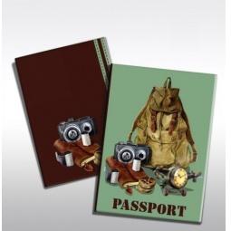фото Обложка для паспорта Феникс-Презент «Рюкзак путешественника»