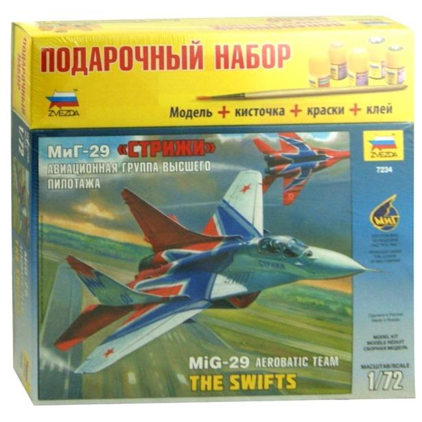 фото Подарочный набор сборной модели самолета Звезда «МиГ-29. Стрижи»