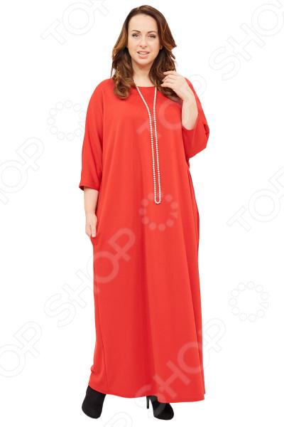 Платье Матекс «Азалия». Цвет: красныйПовседневные платья<br>Платье Матекс Азалия это легкое платье, которое поможет вам создавать невероятные образы, всегда оставаясь женственной и утонченной. Грамотный крой и цвет скрывают недостатки фигуры и подчеркивают достоинства. В этом платье вы будете чувствовать себя блистательно как на празднике, так и на вечерней прогулке по городу.  Платье свободного прямого кроя. Фасон визуально корректирует недостатки в области живота и боков.  В боковых швах два небольших кармана.  Круглый вырез горловины подчеркнет красоту вашей шеи.  Широкие рукава. Платье сшито из плотной трикотажной ткани, материал приятен на ощупь и хорошо тянется. Не линяет, не скатывается, формы от стирки не теряет.<br>