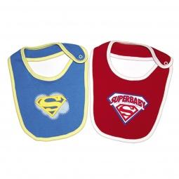фото Комплект нагрудников Superbaby для кормления. Цвет: малиновый, синий