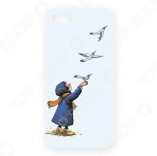 Чехол для iPhone 5 Mitya Veselkov «Девочка и птички» цена
