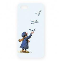 фото Чехол для iPhone 5 Mitya Veselkov «Девочка и птички»
