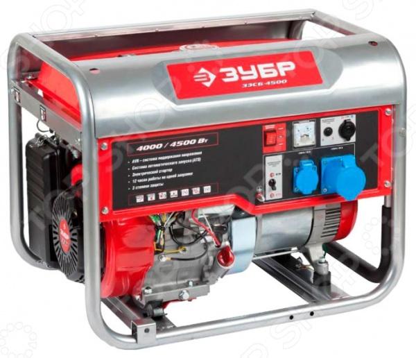 Генератор бензиновый Зубр ЗЭСБ-4500-ЭНА бензиновый генератор hyundai hhy3000f в белгороде