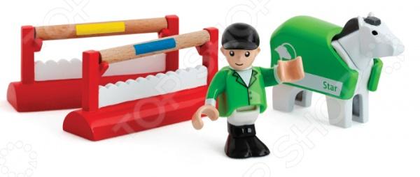 Набор игровой для мальчика Brio «Тренировка лошадок» игровые наборы tomy игровой набор приключения трактора джонни и лошади на ферме