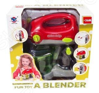 Миксер игрушечный Shantou Gepai 14011Сюжетно-ролевые наборы<br>Миксер игрушечный Shantou Gepai 14011 окажется полезной вещью на кухне юной хозяйки. Любая девочка любит повторять все за мамой. Но мама никогда не подпустит маленького ребенка к настоящему миксеру, ведь можно пораниться. Теперь в хозяйстве девочки может появиться свой абсолютно безопасный прибор, который очень похож на настоящий. С таким миксером девочка будет осваивать работу с бытовой техникой.<br>