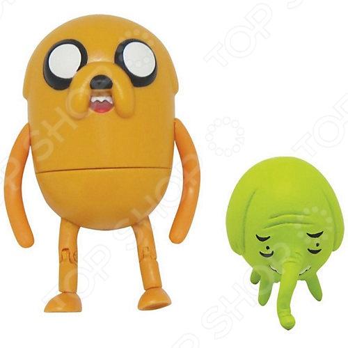 Набор Adventure Time Джейк и Деревяшка фигурки джейк и деревяшка 2в1 6 см время приключений