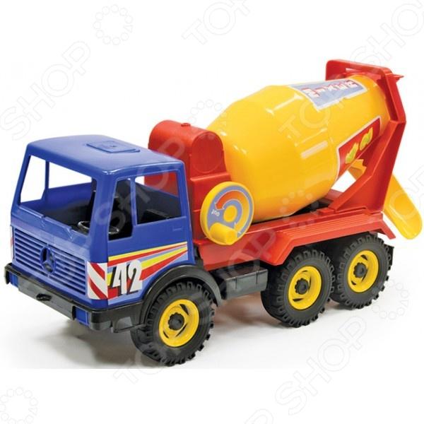 Машинка игрушечная Лена «Бетоновоз трехосный» 08004