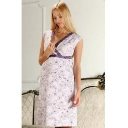 Купить Сорочка для беременных Nuova Vita 208.1. Цвет: лиловый