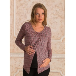 Купить Блузка для беременных Nuova Vita 1331.04. Цвет: коралловый