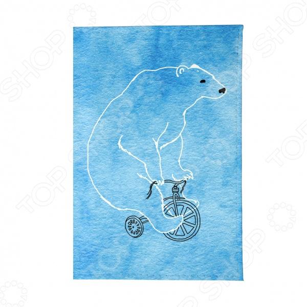Обложка для автодокументов Mitya Veselkov «Мишка на велосипеде»