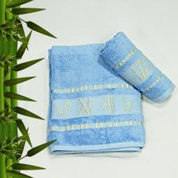 фото Полотенце махровое Mariposa Tropics blue. Размер полотенца: 50х90 см