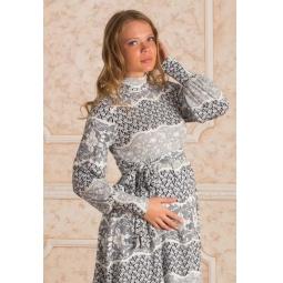 Купить Туника для беременных Nuova Vita 1507.04. Цвет: синий, белый