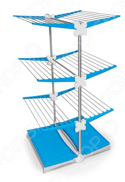 Сушилка для белья Meliconi Stendy JuniorСушилки для одежды и обуви<br>Сушилка для белья Meliconi Stendy Junior модульная сушилка с раскладной конструкцией. Позволяет значительно сэкономить пространство. Её можно установить на балконе или в ванной комнате. Соединения сделаны надежной электрической сваркой. Места сварных соединений дополнительно окрашены. Все открытые элементы конструкции оснащены защитными заглушками и колпачками, что предотвращает мелкие травмы и порчу вещей. Общая длина: 30 м.<br>