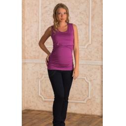 Купить Майка для беременных Nuova Vita 1115.4. Цвет: фиолетовый