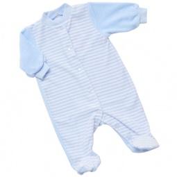 Купить Комбинезон с застежкой спереди IDEA KIDS «Весёлые полосатики». Цвет: голубой