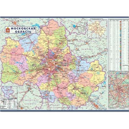 Купить Карта настенная горизонтальная Magnetoplan «Подмосковье»