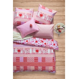 фото Комплект постельного белья Сова и Жаворонок Premium «Амарант». 2-спальный